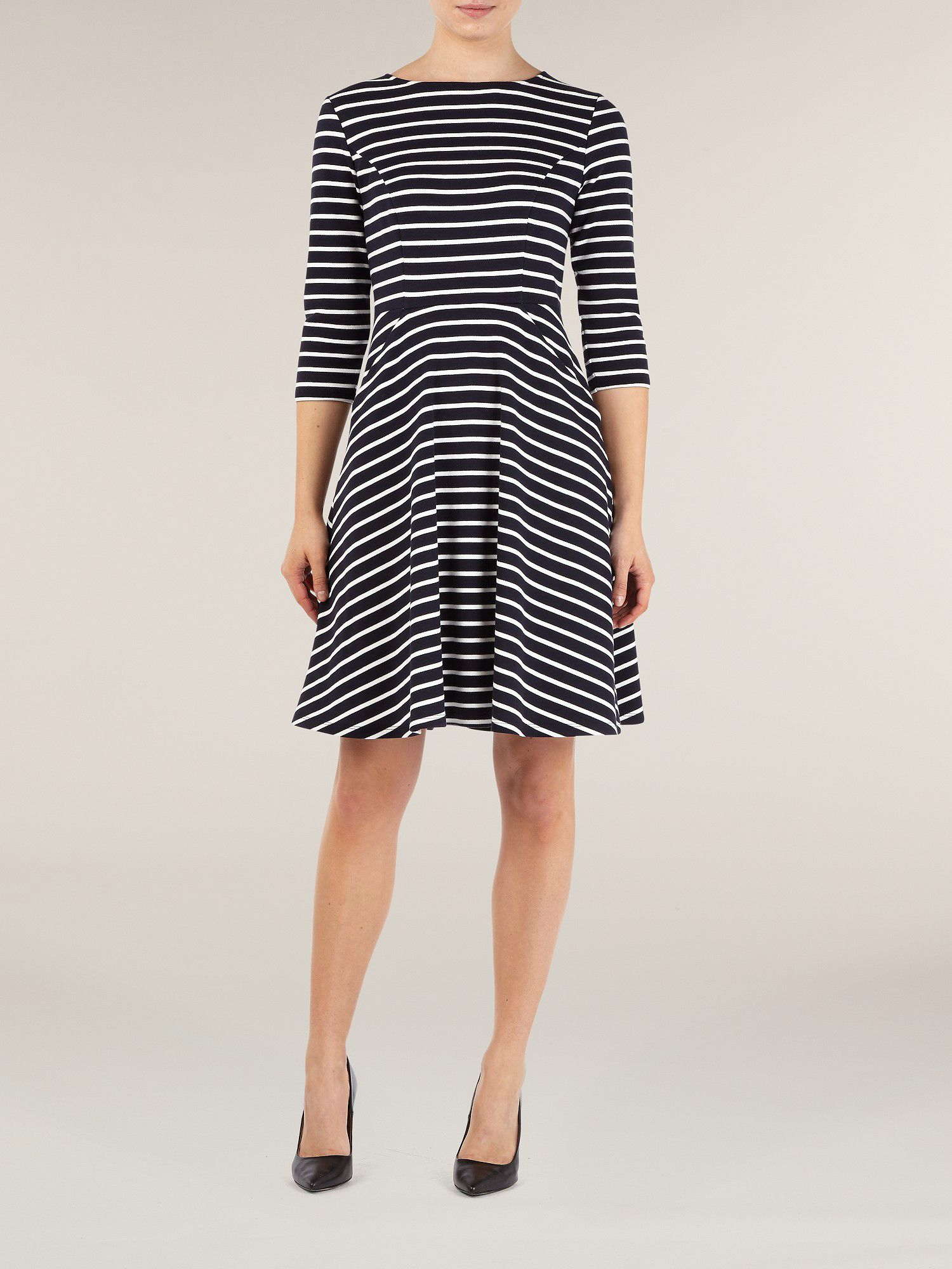 Wissi stripe skater dress