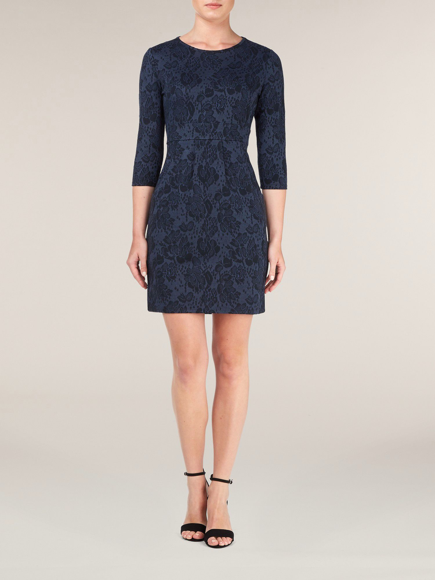 Rose jacquard dress