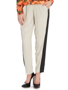 Two tone slouch trousers
