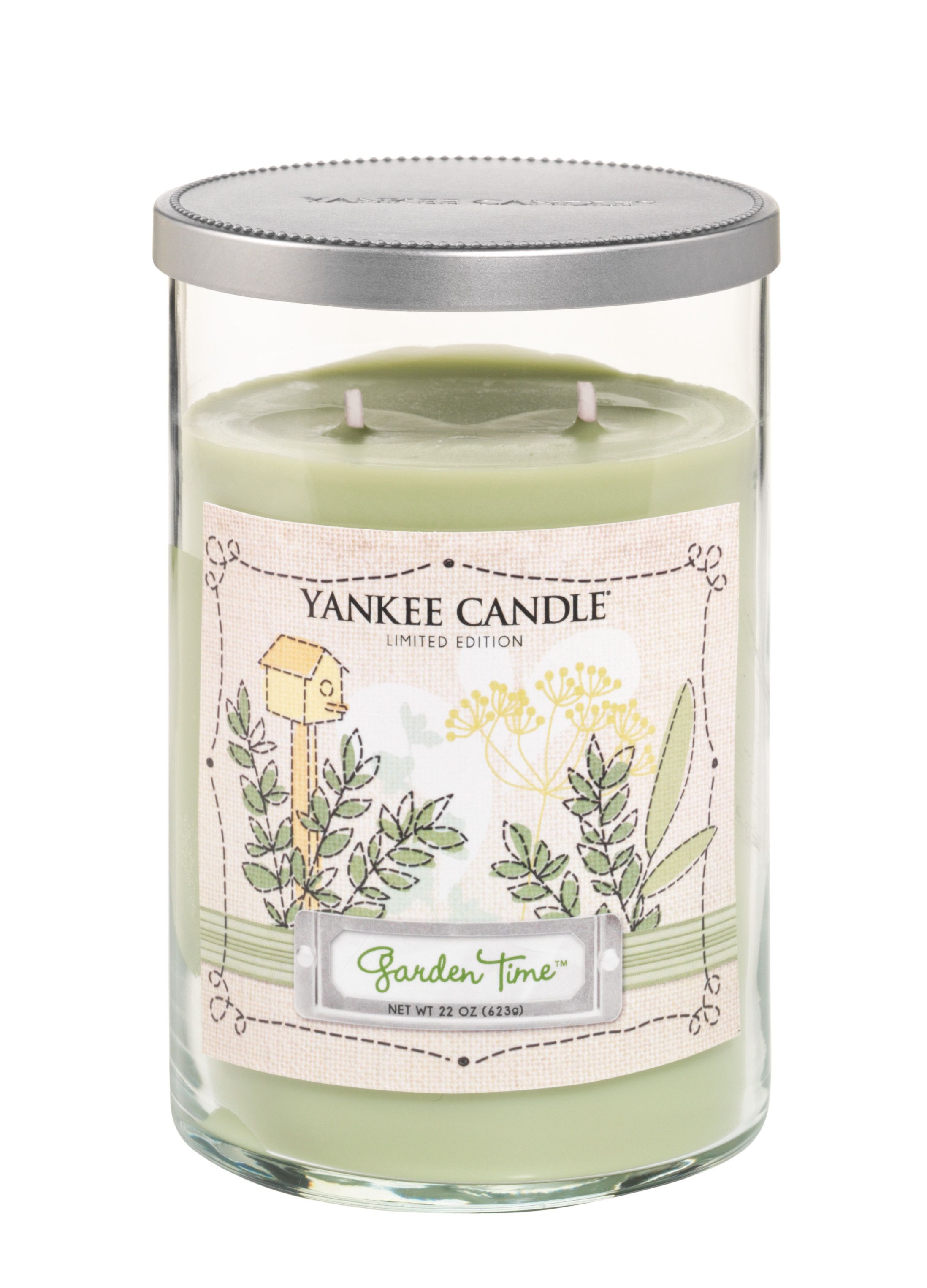 Garden time large tumbler 2 wick candle