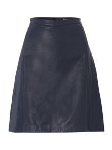 Leather Plait Skirt