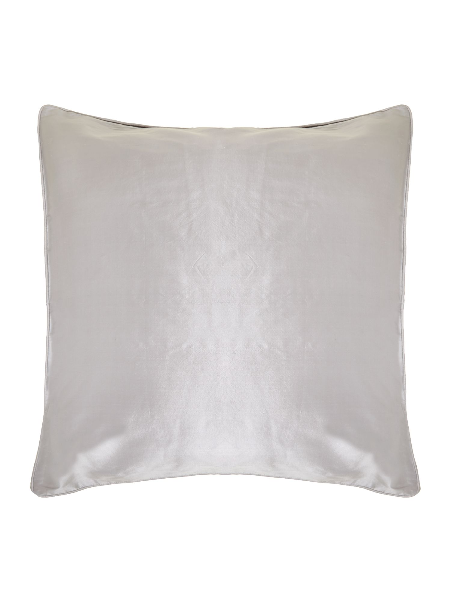 Grey oversized silk cushion