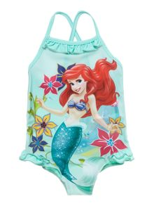 Girls Ariel swimsuit with cross straps