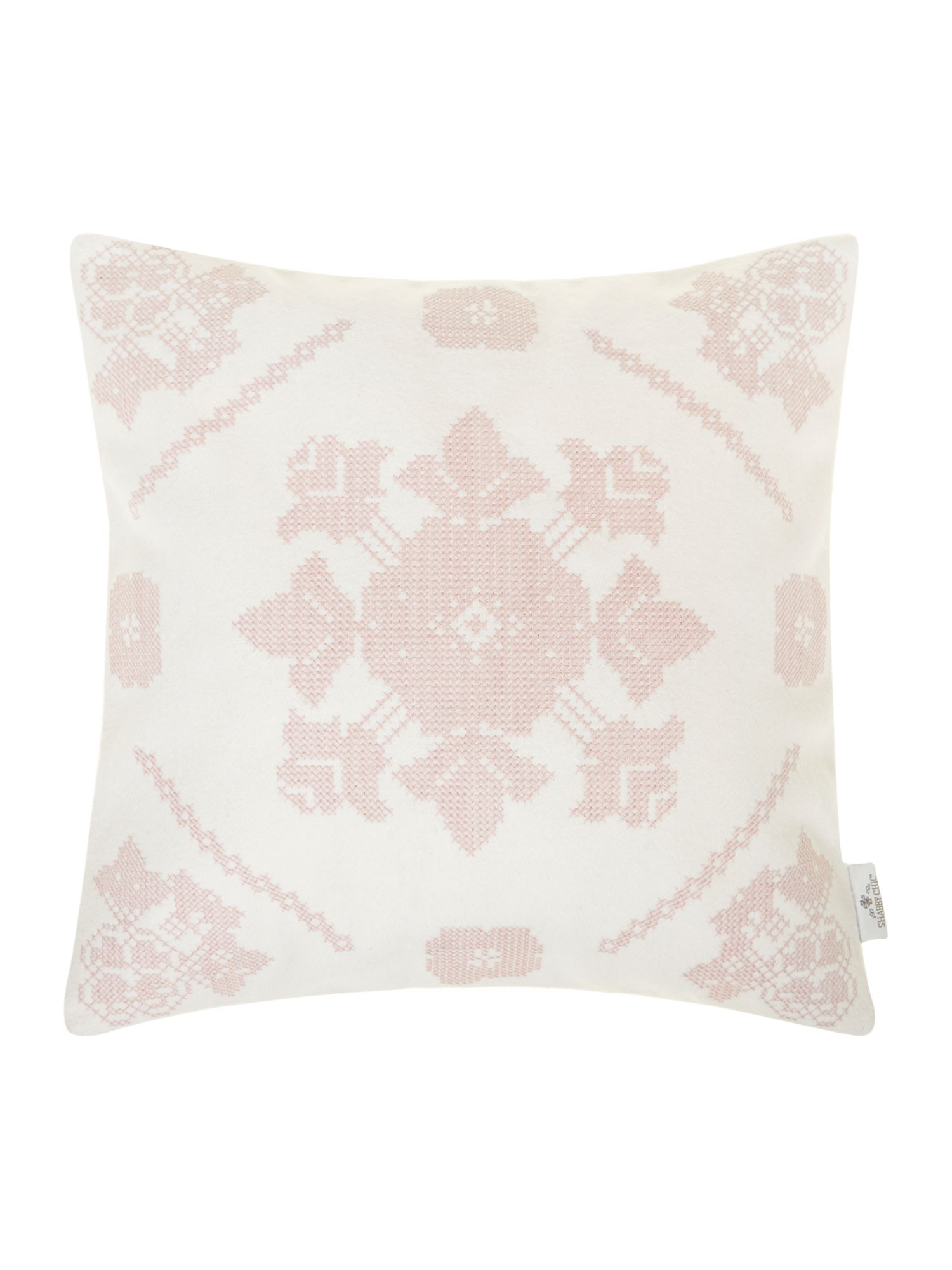 Small tapestry cushion, blush pink