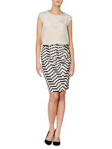 Tantalo printed skirt with side ruching