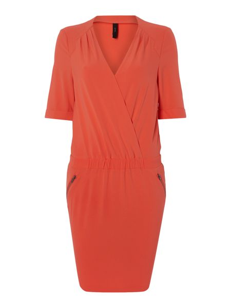 Y.A.S. Short sleeve wrap front dress