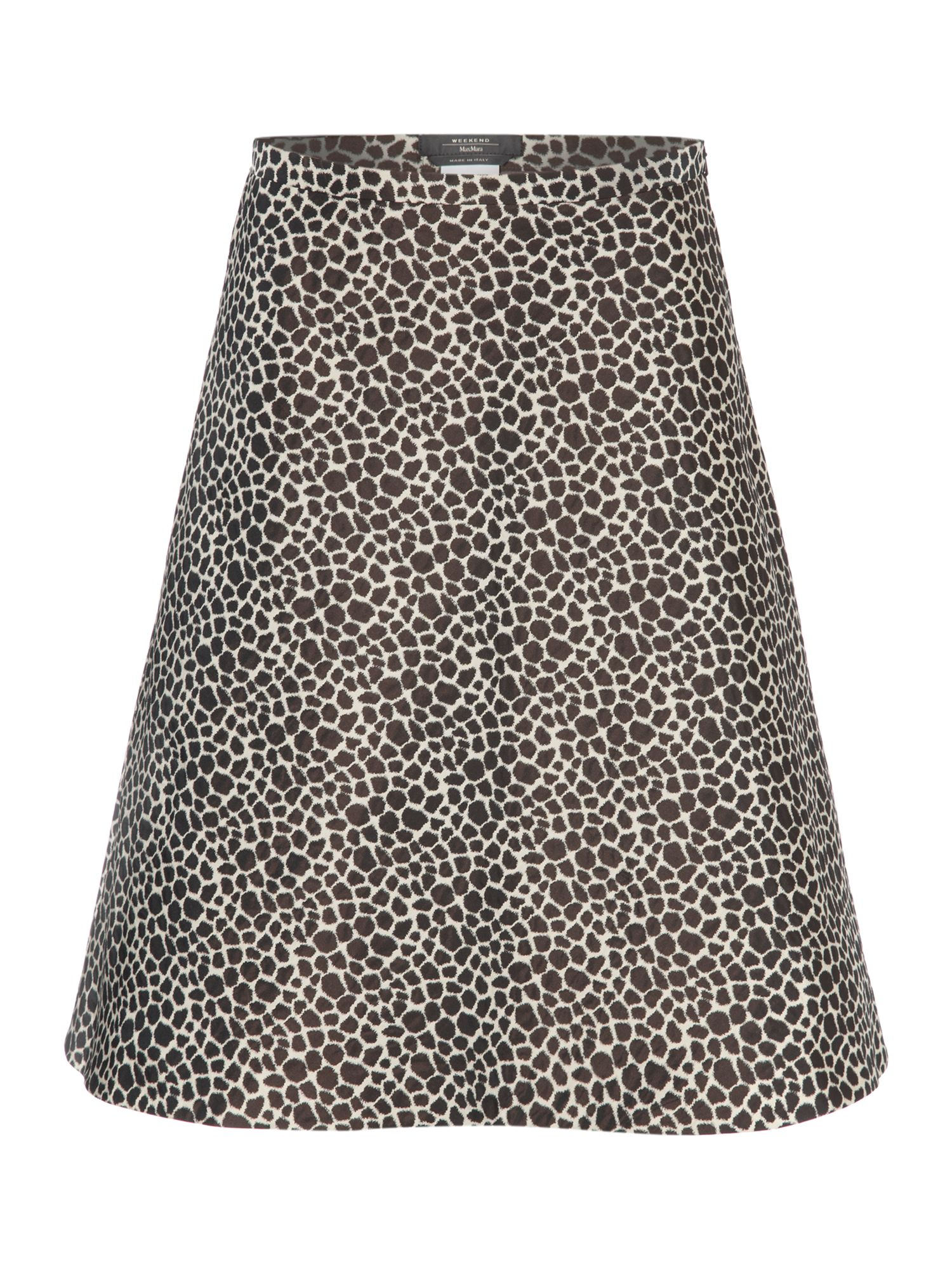 Terreno animal print a line skirt