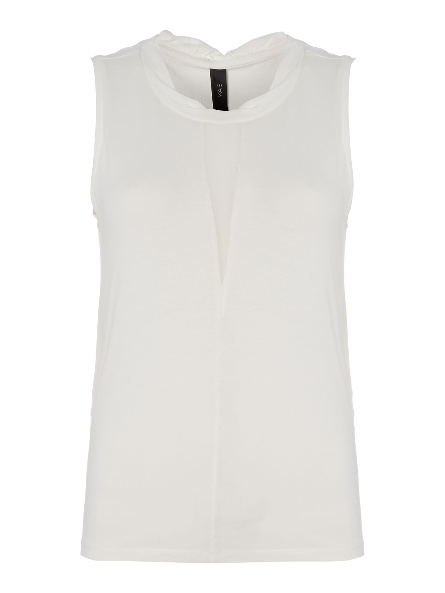 Sleeveless lasercut back top