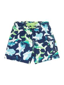 Boys shark print swim shorts