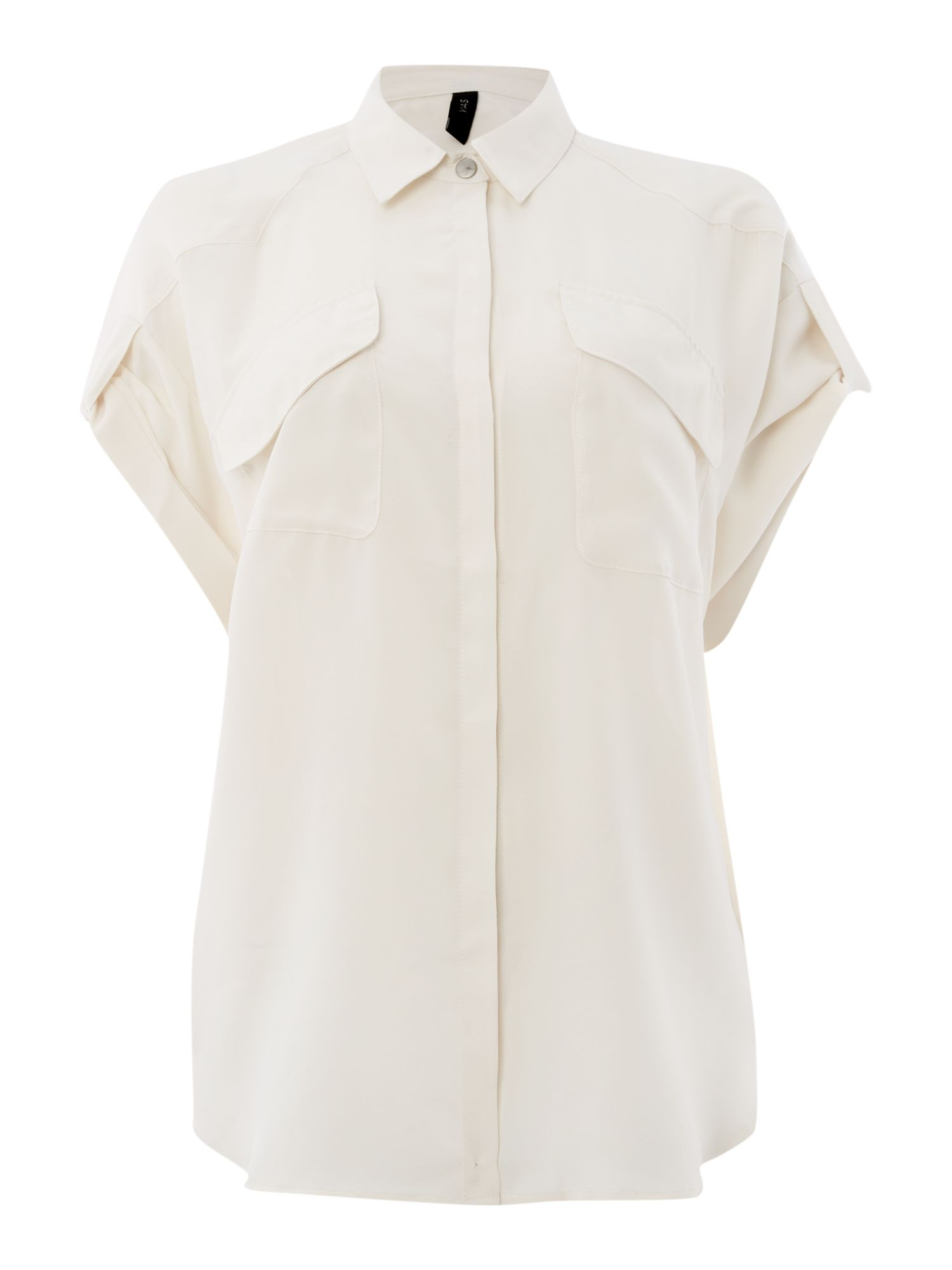 Short sleeve oversized shirt