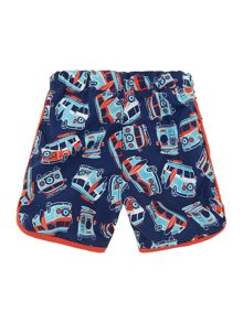 Boys camper print swim shorts