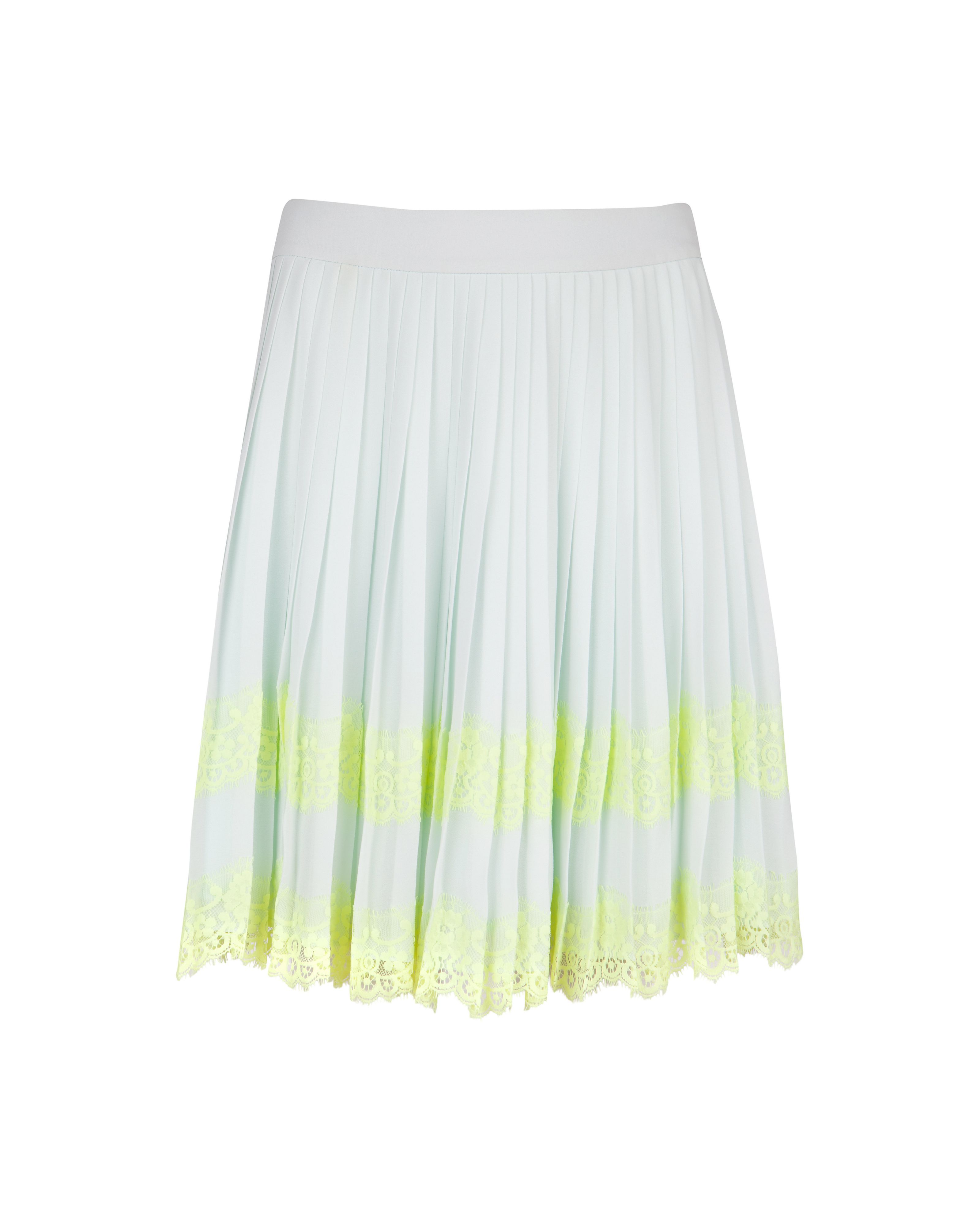 Bluma pleated lace skirt