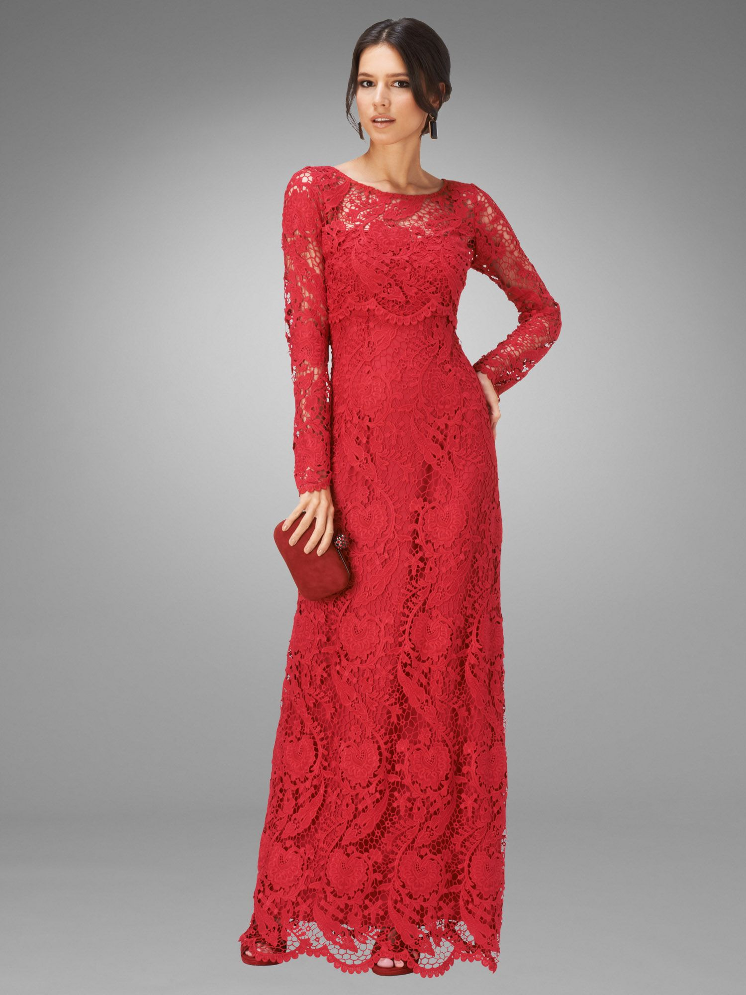 Adrianna lace full length dress
