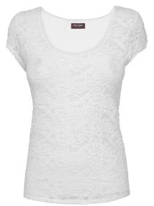 Lace scoop neck top