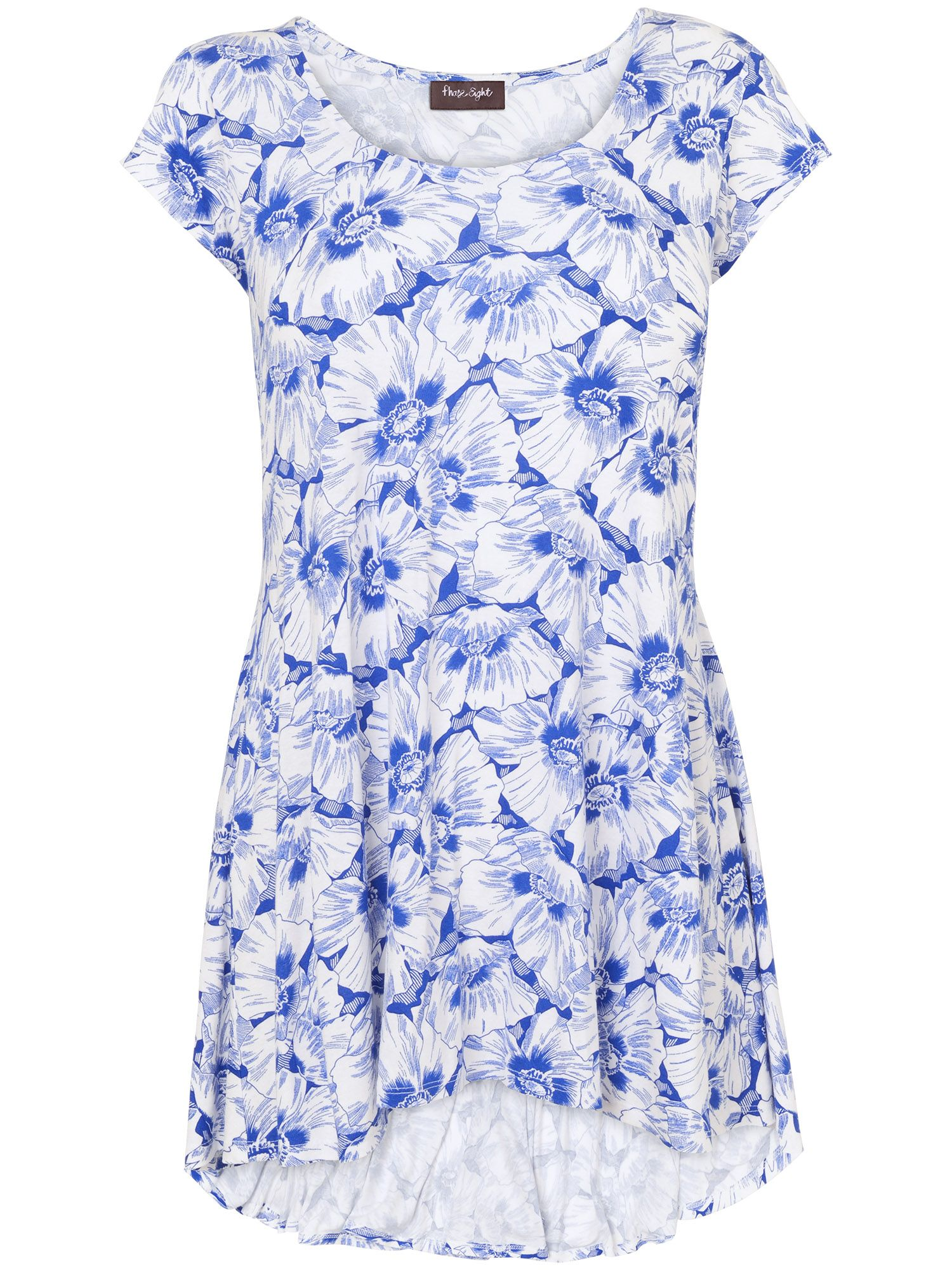 Floral tegan cap sleeve top