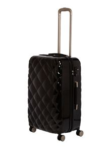 Biba Luxe diamond quilt black 8 wheel hard cabin case