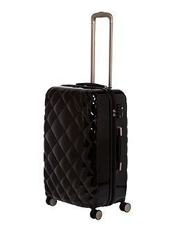 Luxe diamond quilt black 8 wheel hard cabin