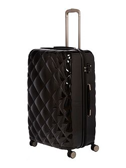 Luxe diamond quilt black 8 wheel hard large