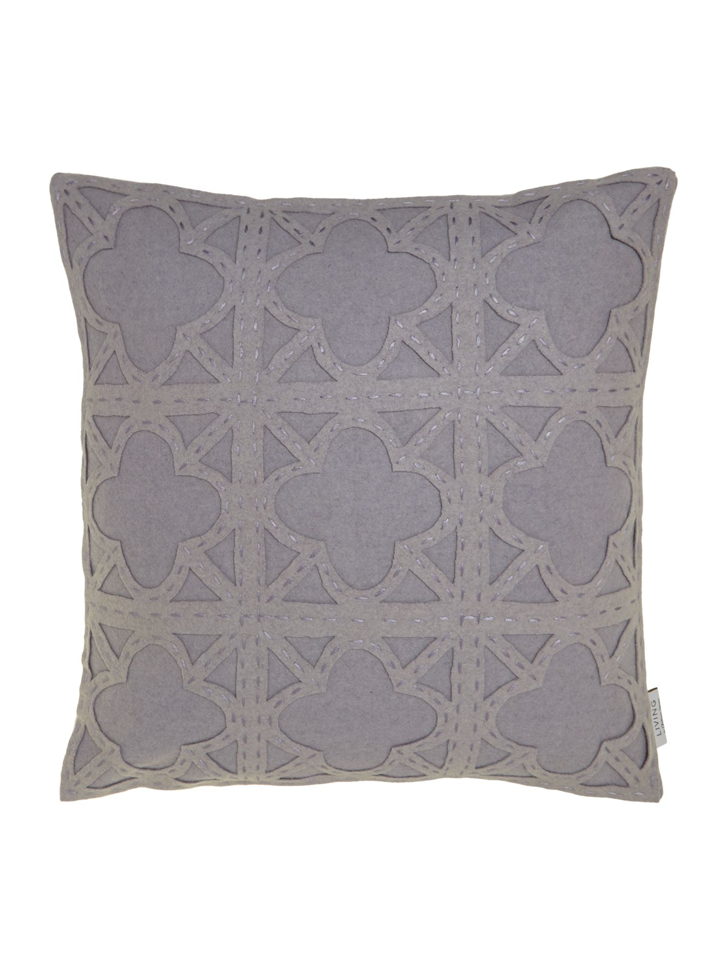 Felt applique maze cushion, grey