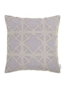 Living by Christiane Lemieux Felt applique maze cushion, grey