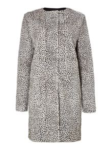 Noli printed long sleeved coat