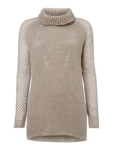 Mohair mix pointelle jumper