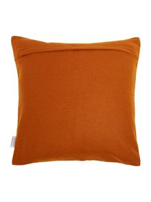 Felt applique rust maze cushion