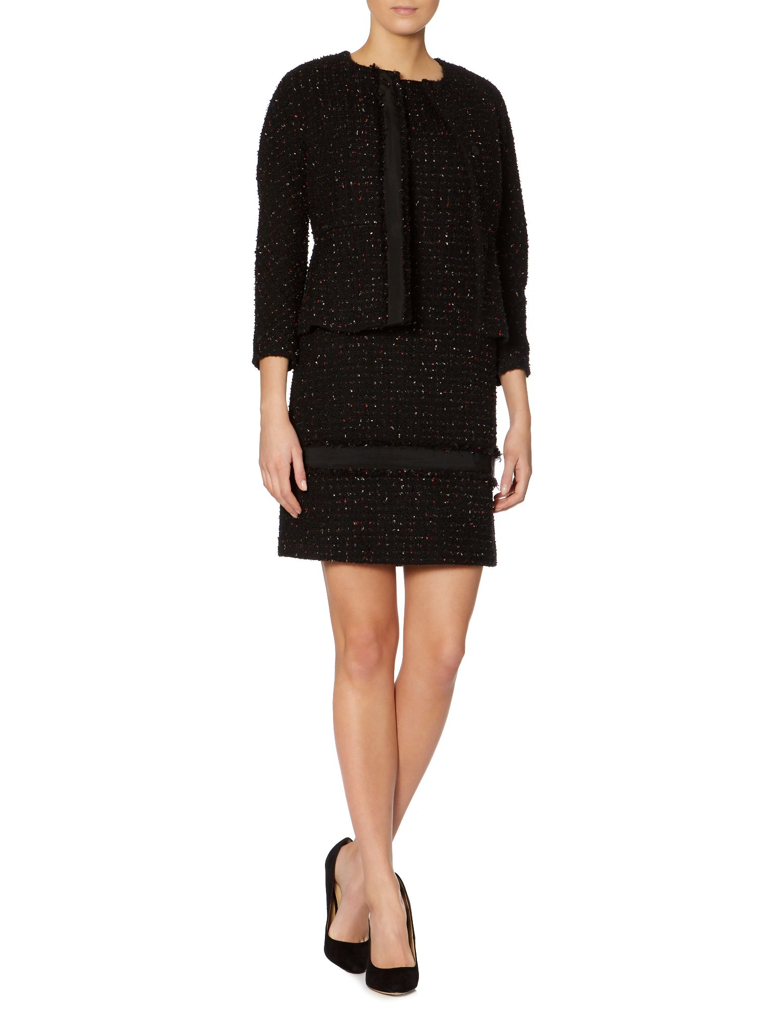 Vanessa long sleeved wool boucle jacket