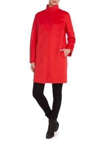 Melina wool funnel neck coat