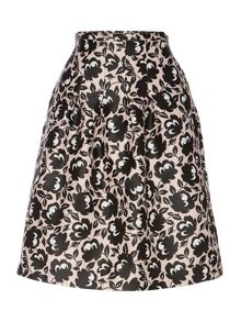 Oboe printed a line skirt