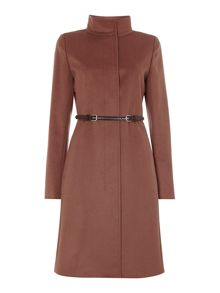 Max Mara Accorta funnel neck wool cashmere coat