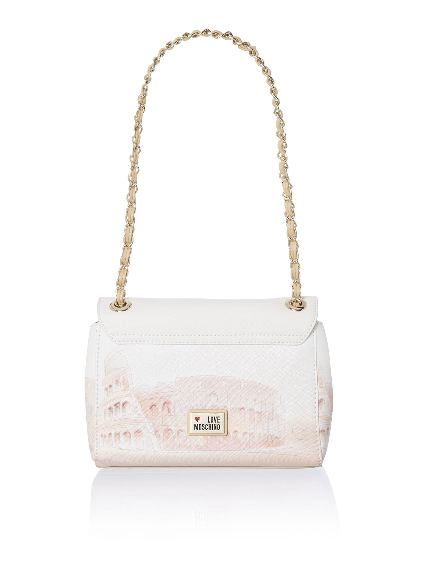 Roma small flapover shoulder bag
