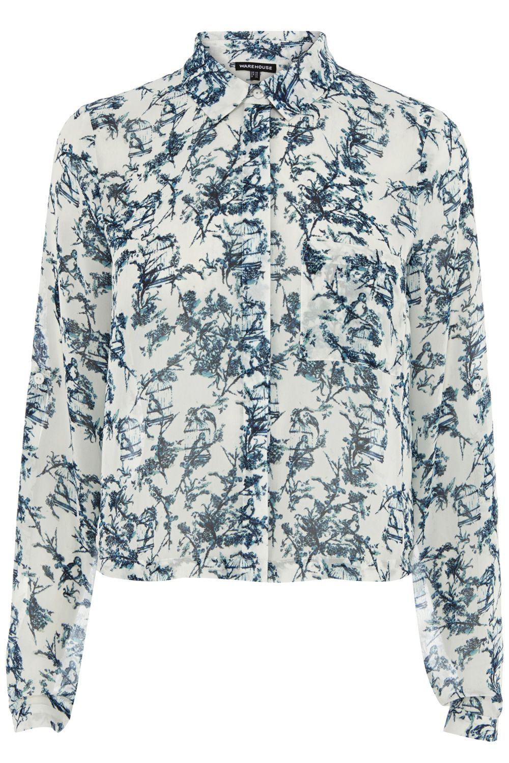 Bird cage cropped shirt