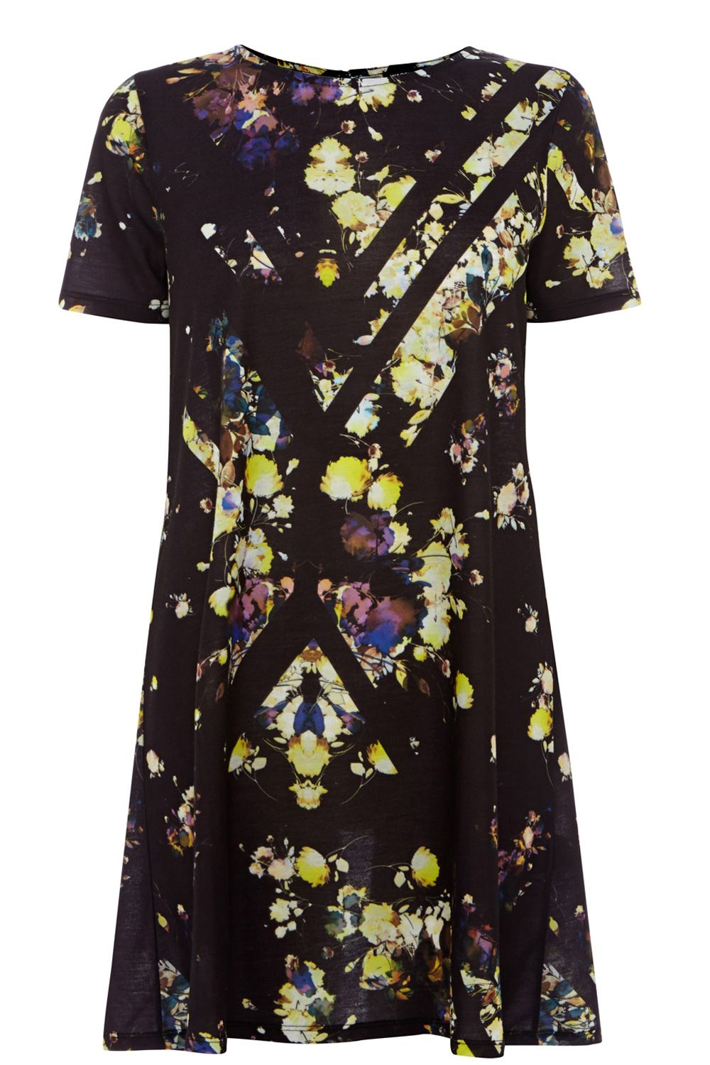 Cut about floral print swing dress