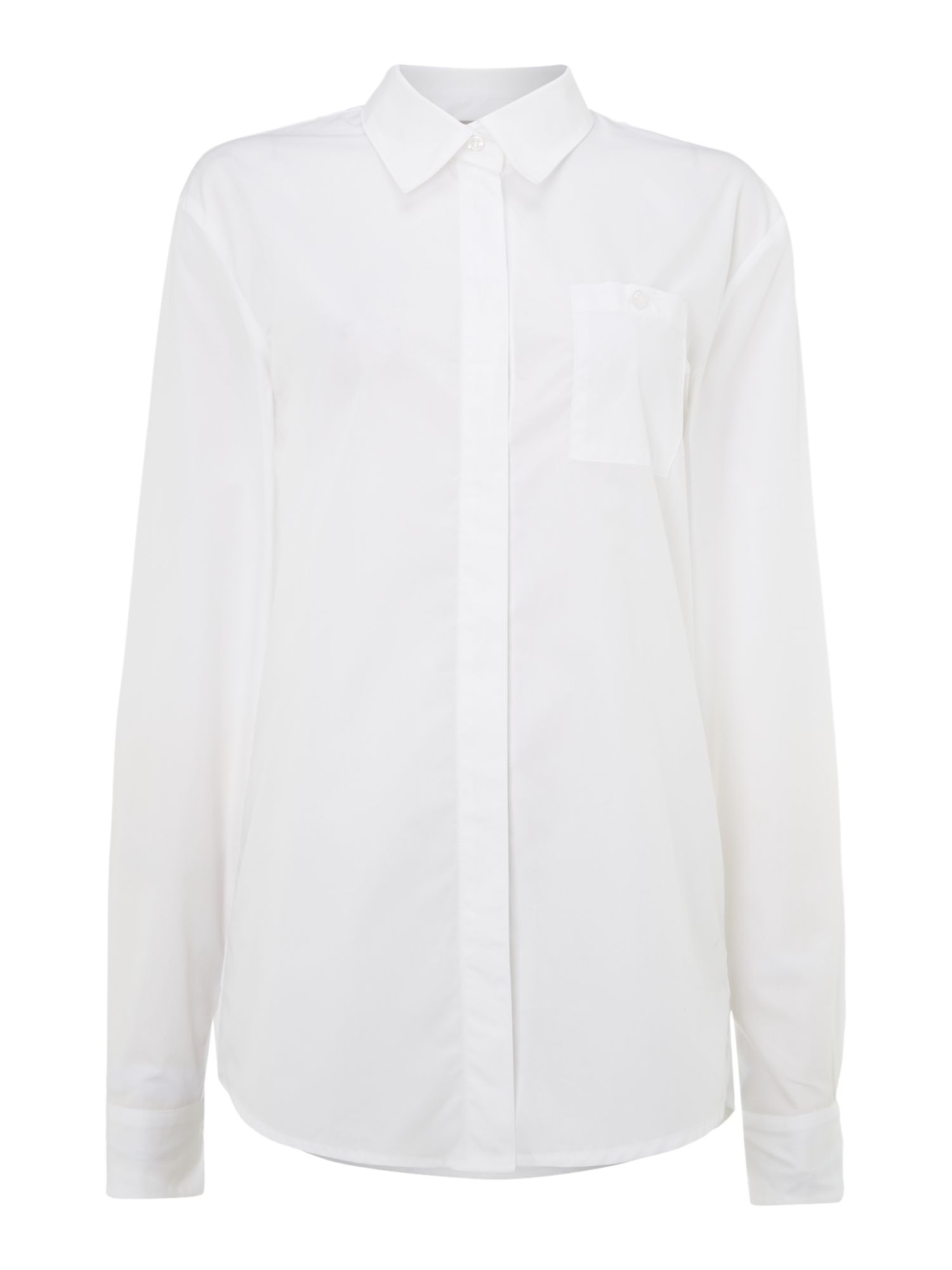 Patch pocket boyfriend shirt