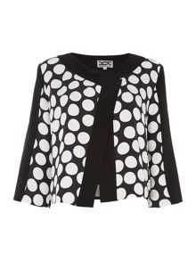 Oversized dot cropped jacket