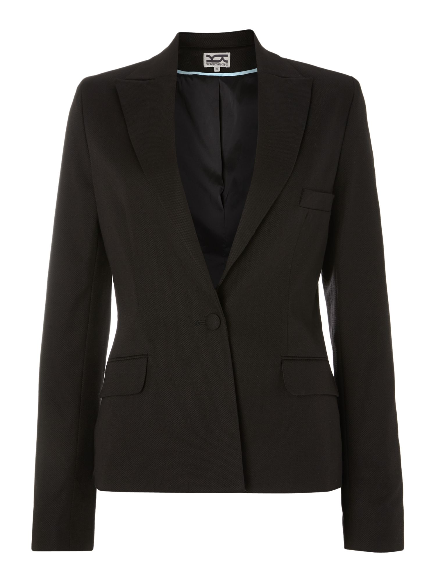 Pique single breasted club blazer