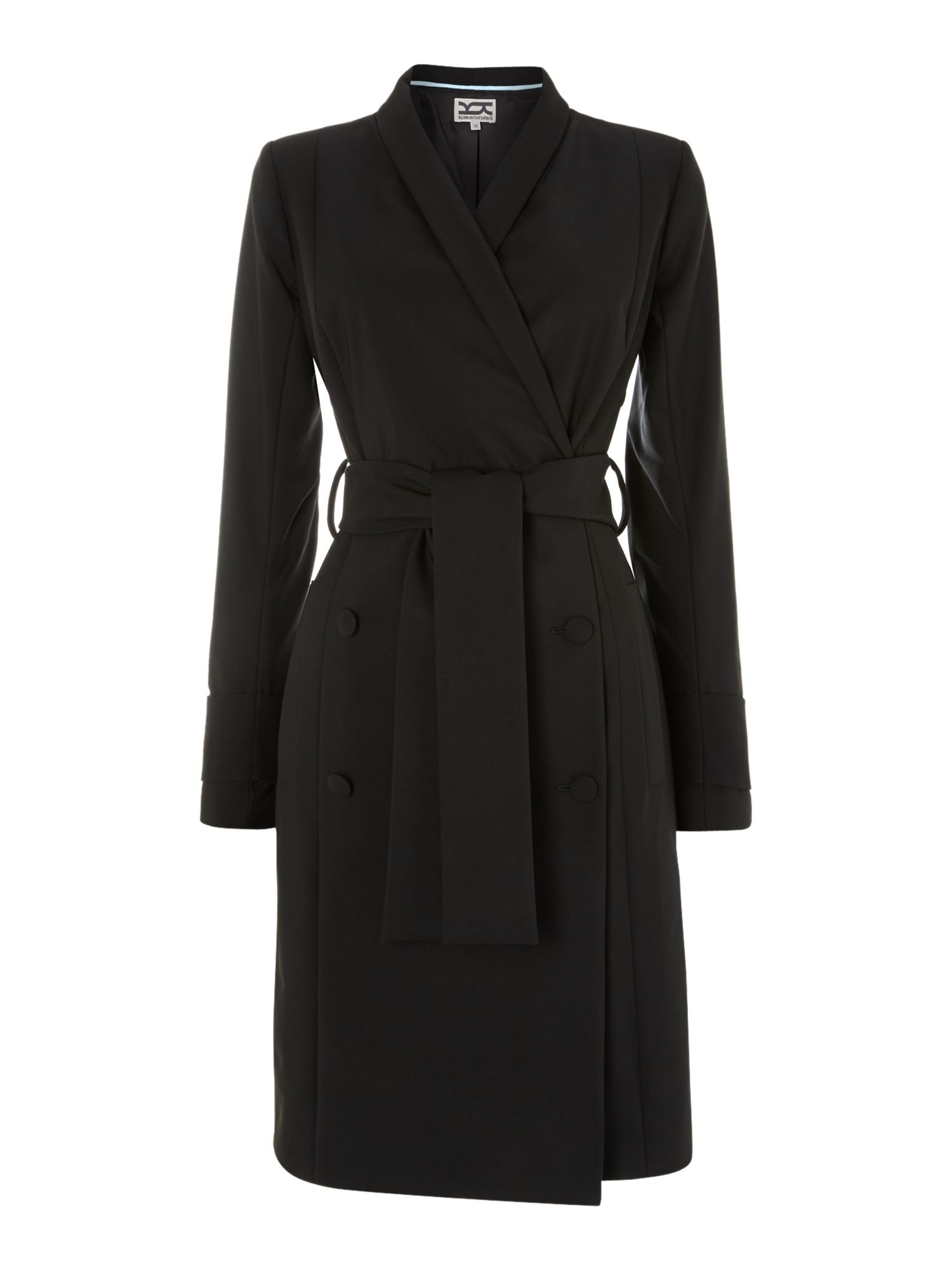 Shawl collar trench coat
