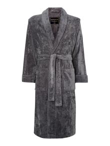 Howick Plain piped towelling robe
