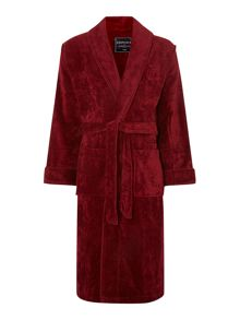 Plain piped towelling robe