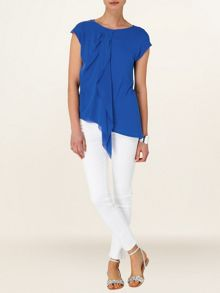 Thea silk asymmetric top