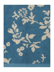 Floral jacquard pack of 2 hand towels