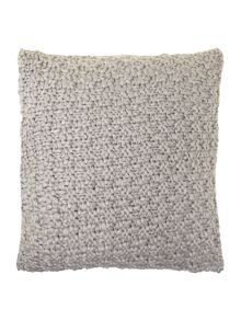 Bobble knit cushion, grey