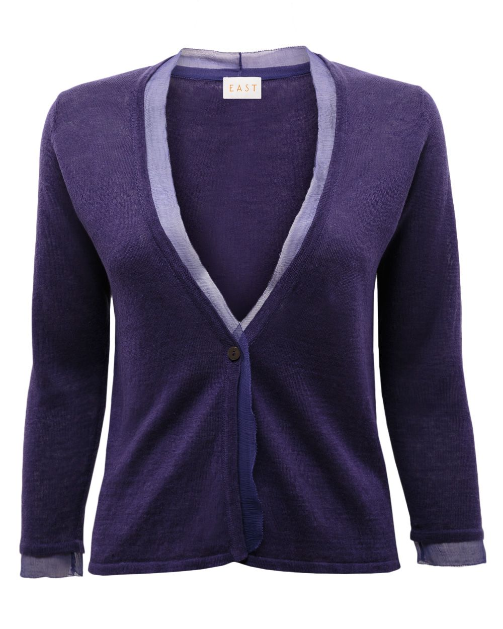 Silk trim cardigan