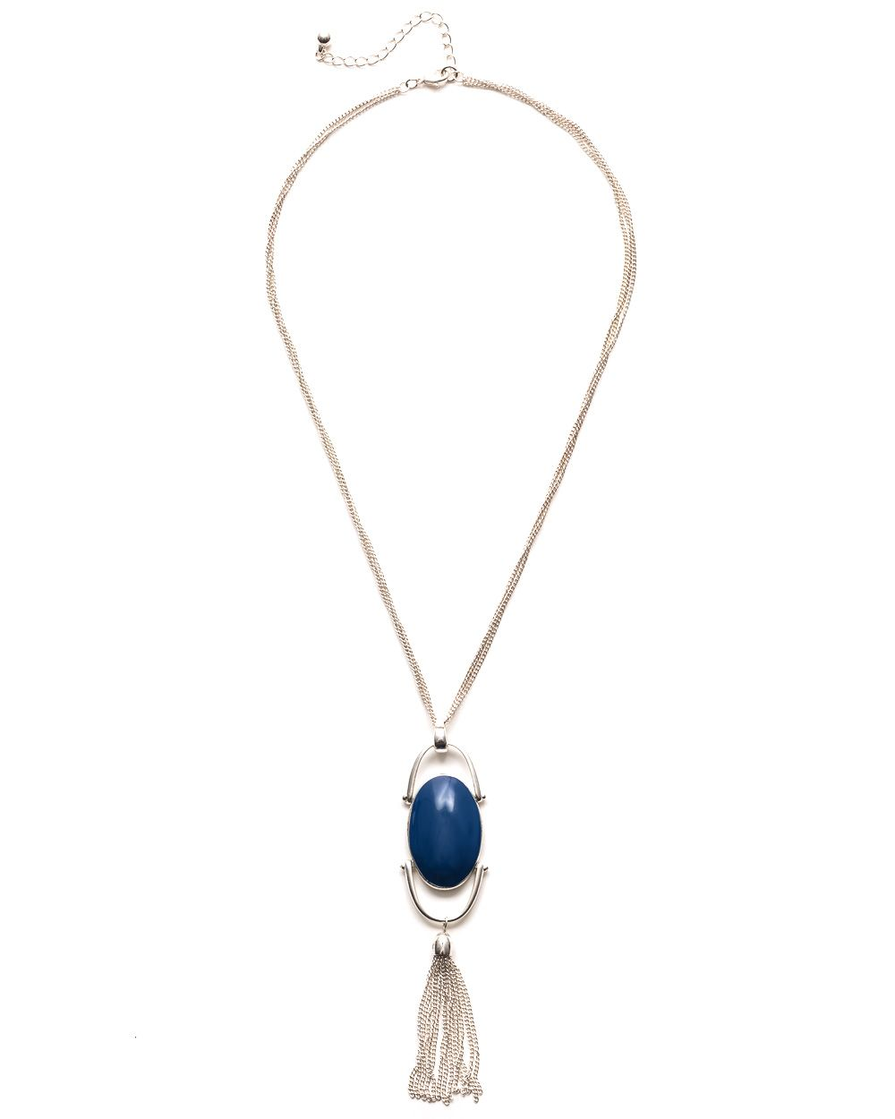 Azure pendant necklace