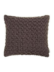 Bobble knit cushion, plum