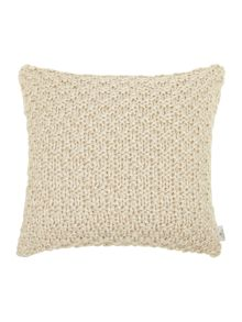 Bobble knit cushion, cream