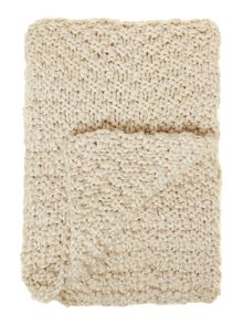 Bobble knit throw, cream