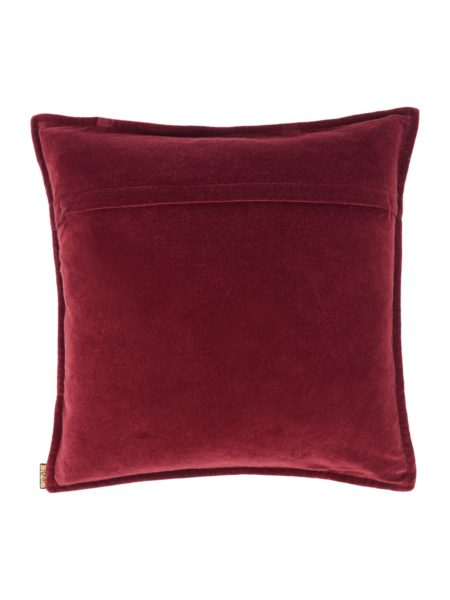Purple velvet gold studded cushion