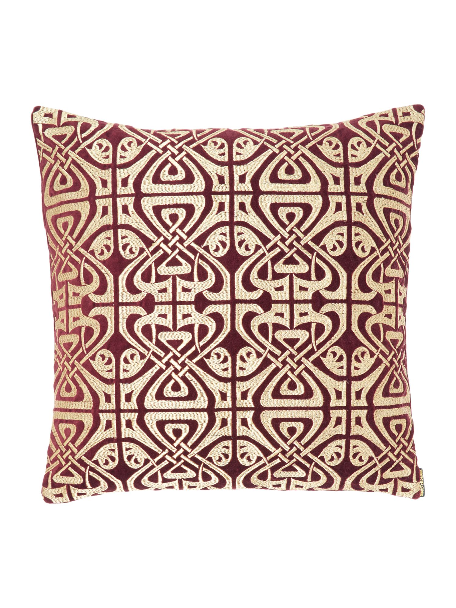 house of fraser velvet biba logo cushion purple ebay. Black Bedroom Furniture Sets. Home Design Ideas